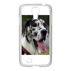 Great Dane harlequin  Samsung GALAXY S4 I9500/ I9505 Case (White)
