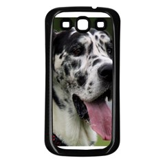 Great Dane harlequin  Samsung Galaxy S3 Back Case (Black)