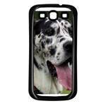 Great Dane harlequin  Samsung Galaxy S3 Back Case (Black) Front
