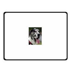Great Dane harlequin  Double Sided Fleece Blanket (Small)
