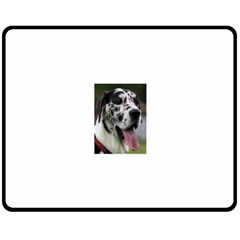 Great Dane harlequin  Double Sided Fleece Blanket (Medium)