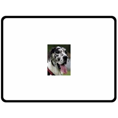 Great Dane harlequin  Double Sided Fleece Blanket (Large)