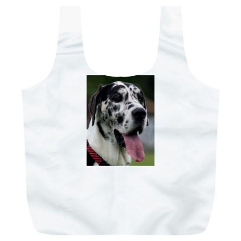 Great Dane harlequin  Full Print Recycle Bags (L)