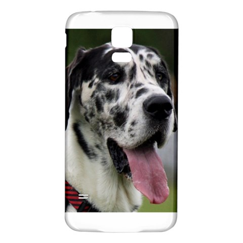 Great Dane harlequin  Samsung Galaxy S5 Back Case (White)