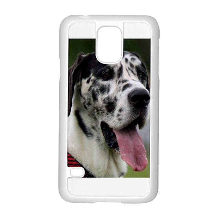 Great Dane harlequin  Samsung Galaxy S5 Case (White)