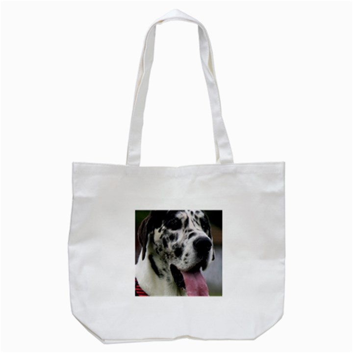 Great Dane harlequin  Tote Bag (White)