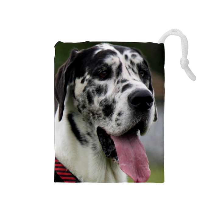 Great Dane harlequin  Drawstring Pouches (Medium)