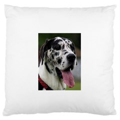 Great Dane harlequin  Standard Flano Cushion Case (One Side)