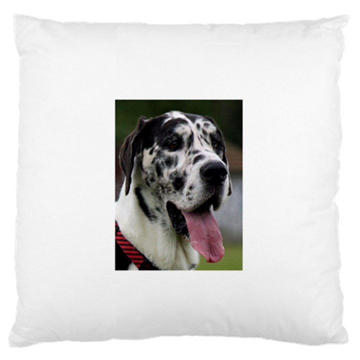 Great Dane harlequin  Standard Flano Cushion Case (Two Sides)