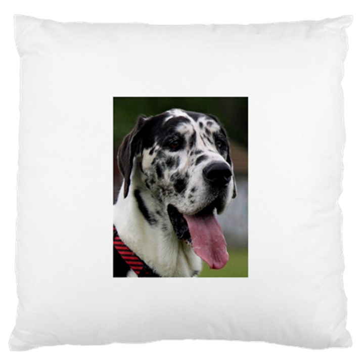 Great Dane harlequin  Large Flano Cushion Case (Two Sides)