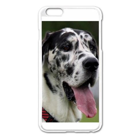 Great Dane harlequin  Apple iPhone 6 Plus/6S Plus Enamel White Case