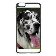 Great Dane harlequin  Apple iPhone 6 Plus/6S Plus Black Enamel Case