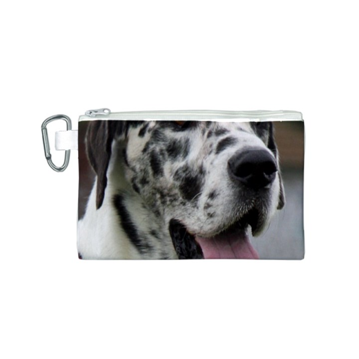 Great Dane harlequin  Canvas Cosmetic Bag (S)