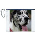 Great Dane harlequin  Canvas Cosmetic Bag (XL) Front