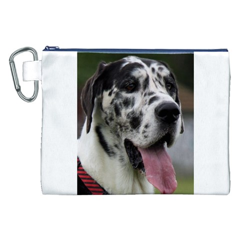 Great Dane harlequin  Canvas Cosmetic Bag (XXL)