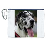 Great Dane harlequin  Canvas Cosmetic Bag (XXL) Front