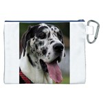 Great Dane harlequin  Canvas Cosmetic Bag (XXL) Back