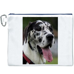 Great Dane Harlequin  Canvas Cosmetic Bag (xxxl)
