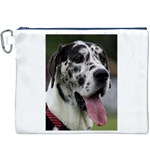 Great Dane harlequin  Canvas Cosmetic Bag (XXXL) Front