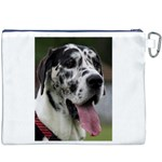 Great Dane harlequin  Canvas Cosmetic Bag (XXXL) Back