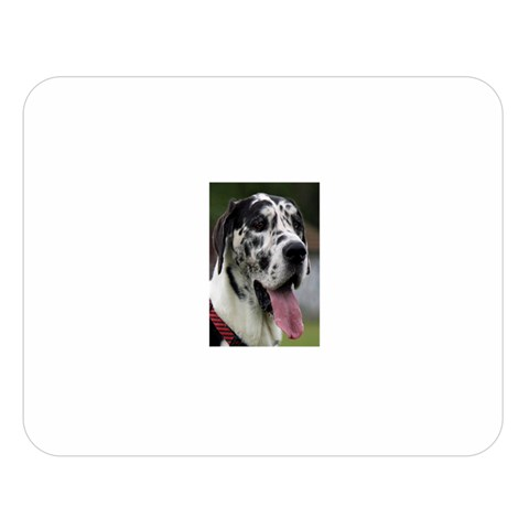 Great Dane harlequin  Double Sided Flano Blanket (Large)