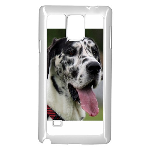 Great Dane harlequin  Samsung Galaxy Note 4 Case (White)