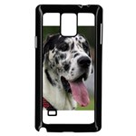 Great Dane harlequin  Samsung Galaxy Note 4 Case (Black) Front