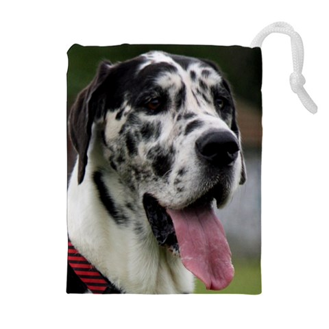 Great Dane harlequin  Drawstring Pouches (Extra Large)