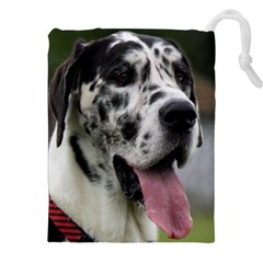 Great Dane harlequin  Drawstring Pouches (XXL)