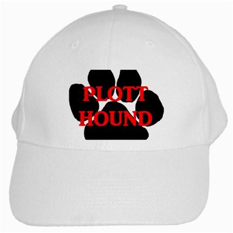 Plott Hound Name Paw White Cap