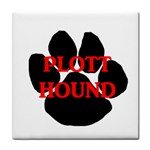 Plott Hound Name Paw Tile Coasters Front