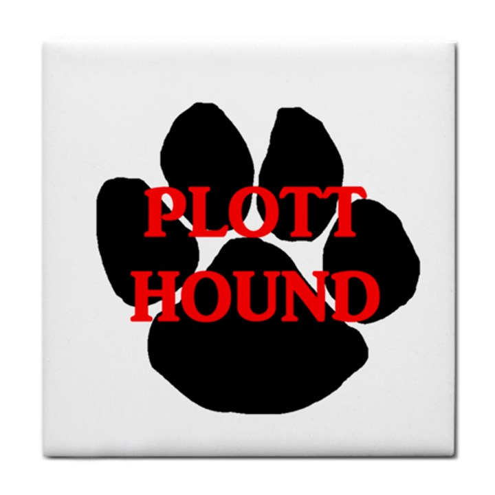 Plott Hound Name Paw Tile Coasters