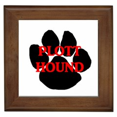 Plott Hound Name Paw Framed Tiles