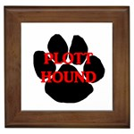 Plott Hound Name Paw Framed Tiles Front
