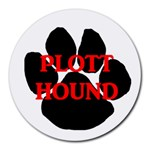 Plott Hound Name Paw Round Mousepads Front