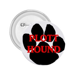 Plott Hound Name Paw 2.25  Buttons
