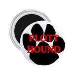 Plott Hound Name Paw 2.25  Magnets Front
