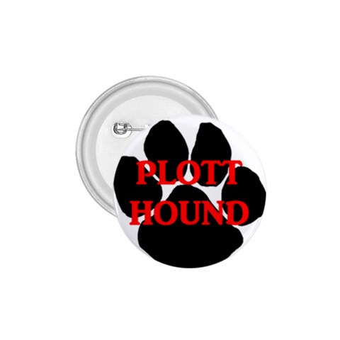 Plott Hound Name Paw 1.75  Buttons