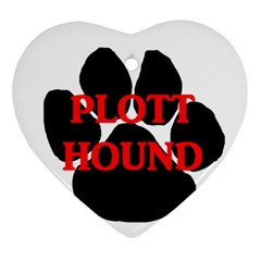 Plott Hound Name Paw Ornament (Heart)