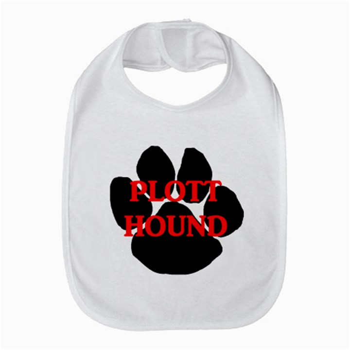 Plott Hound Name Paw Bib