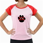 Plott Hound Name Paw Women s Cap Sleeve T-Shirt Front