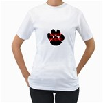 Plott Hound Name Paw Women s T-Shirt (White) (Two Sided) Front