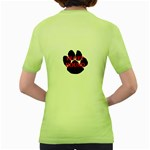 Plott Hound Name Paw Women s Green T-Shirt Back