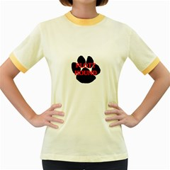 Plott Hound Name Paw Women s Fitted Ringer T-Shirts