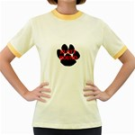Plott Hound Name Paw Women s Fitted Ringer T-Shirts Front