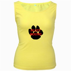 Plott Hound Name Paw Women s Yellow Tank Top