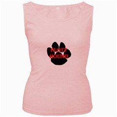 Plott Hound Name Paw Women s Pink Tank Top