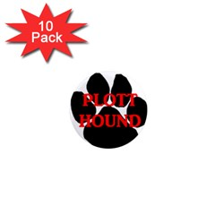 Plott Hound Name Paw 1  Mini Magnet (10 pack)