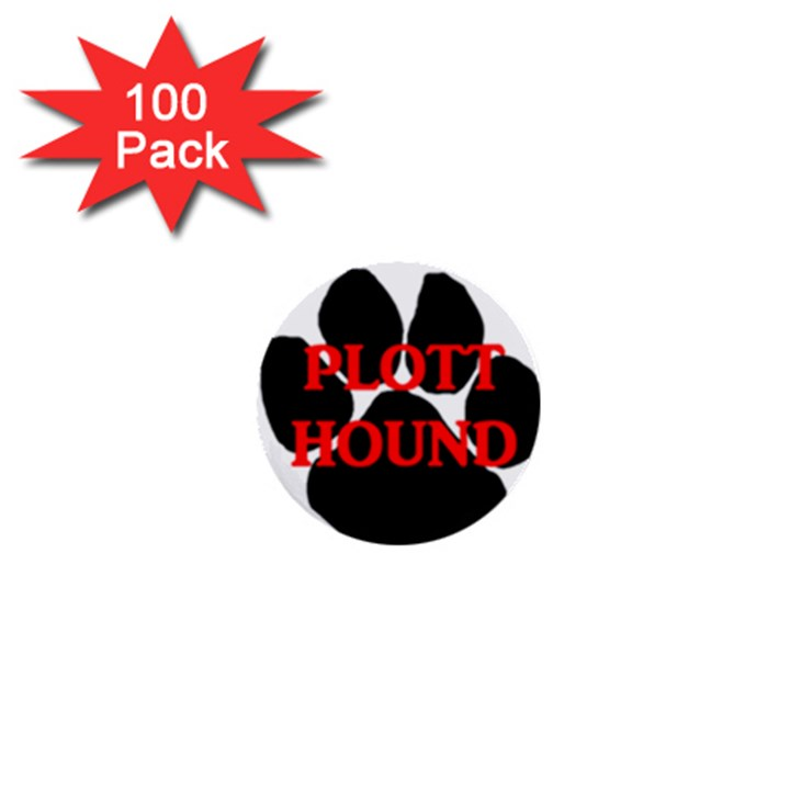 Plott Hound Name Paw 1  Mini Buttons (100 pack)