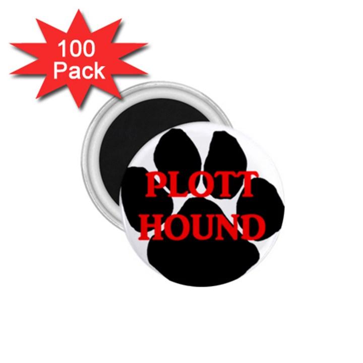 Plott Hound Name Paw 1.75  Magnets (100 pack)